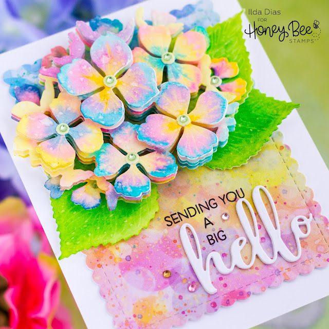 Hello Card,Honey Bee Stamps,Let's Celebrate,Lovely Layers: Hydrangea Dies,Bitty Buzzwords,Card Making, Stamping, Die Cutting, handmade card, ilovedoingallthingscrafty, Stamps, how to,