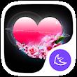 Pink Heart Love-APUS Launcher stylish theme