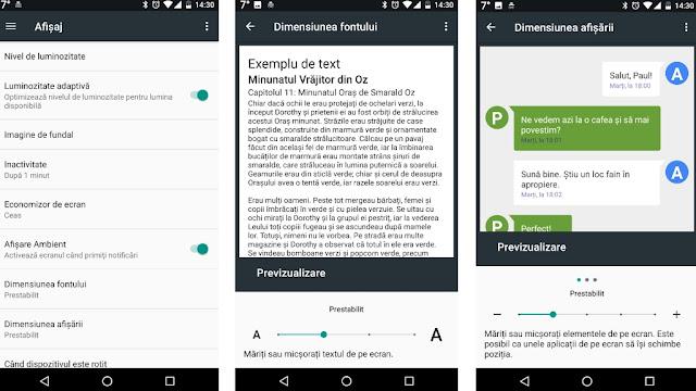 Cum se schimbă fontul pe un telefon Android