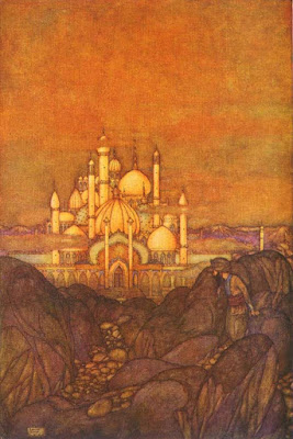 The city of brass as imagined by  Edmund Dulac