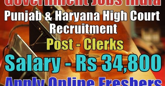 punjab and haryana high court clerk recruitment 2019 online apply