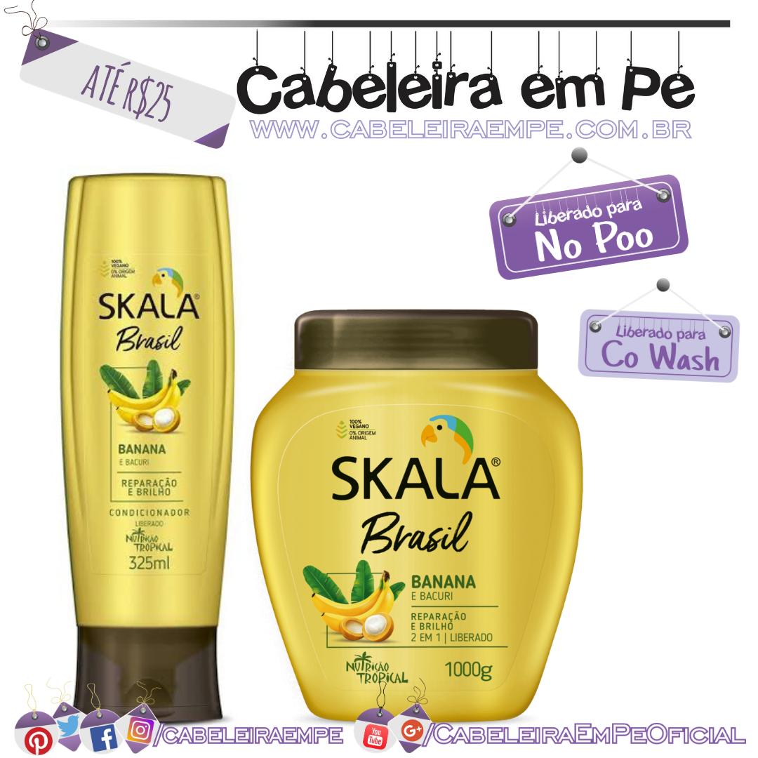 Máscara e Condicionador Banana e Bacuri - Skala Brasil - Kit No Poo Barato