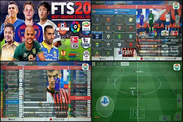 Anda jangan lupa untuk Unduh juga file  Download FTS 20 Shopee Liga 1 & Europe by Gilagame