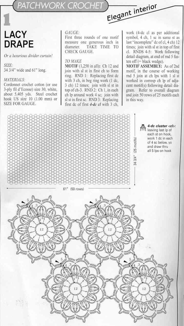 Схема мотивов крючком