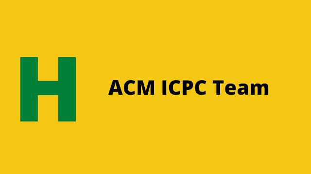 HackerRank ACM ICPC Team problem solution
