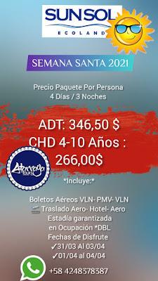 HOTEL todo incluido Isla Margarita semana