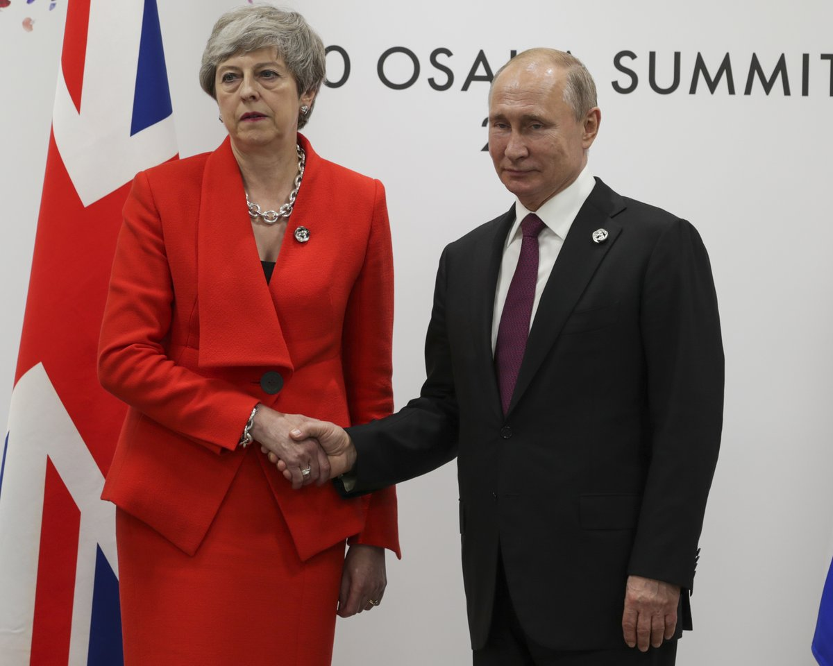 Prime Minister Theresa May met President Putin at the G20 Summit