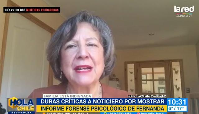 Colegio de Periodistas condena emisión de perfil psicológico de Fernanda Maciel