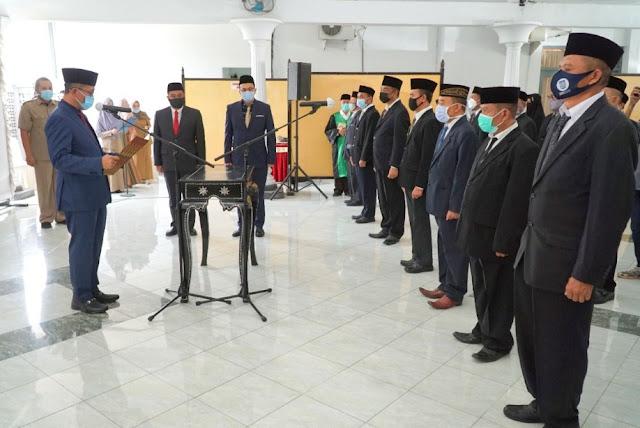 Ratusan pejabat eselon IV Lombok Timur dilantik di tiga tempat