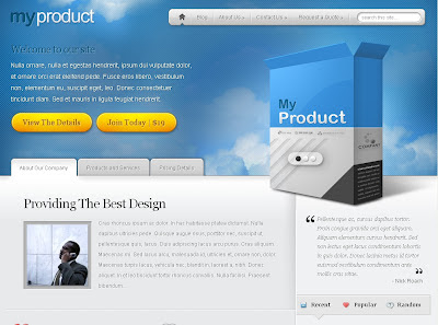 MyProduct Wordpress Theme
