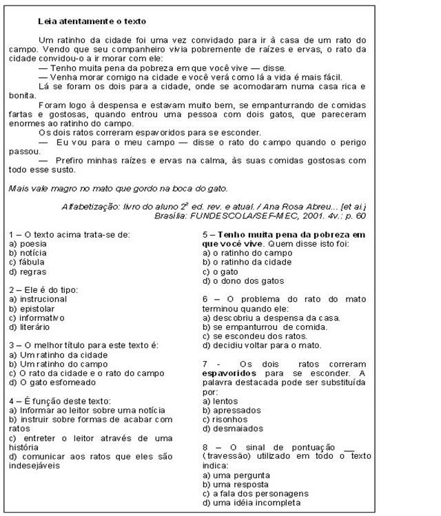 Rosearts Atividades Para Imprimir Avaliacao 4º Ano