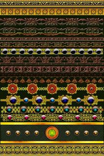 Golden Border Multi Design 1