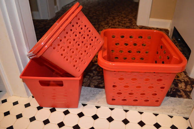 Red Baskets On The Floor