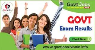 Government Exam Result