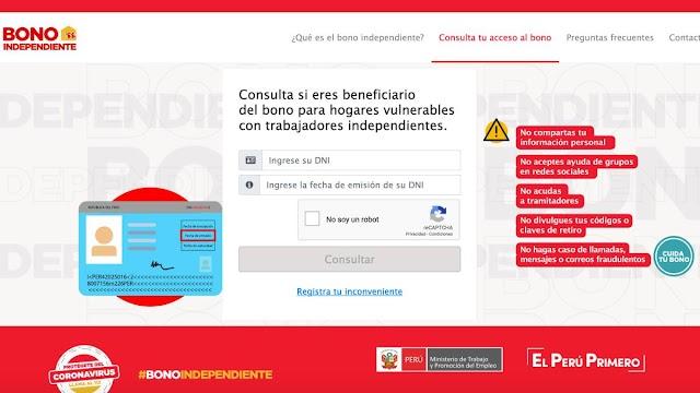 Bono Independiente: Agosto 2021