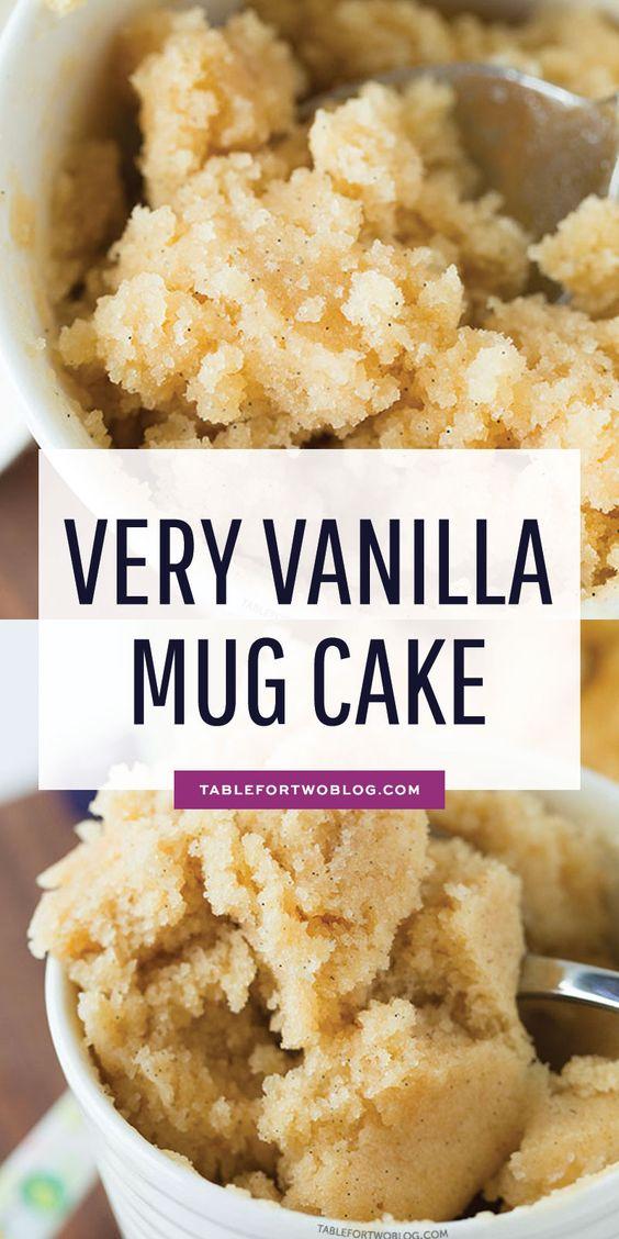The Moistest Very Vanilla Mug Cake