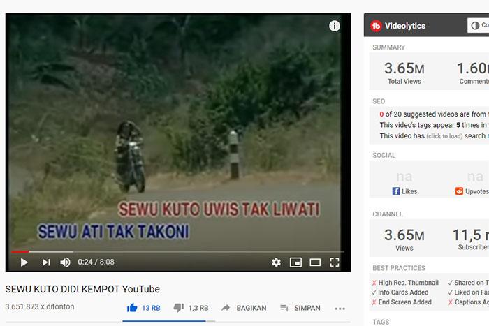 Video Clip Sewu Kutho Didi Kempot Jadul
