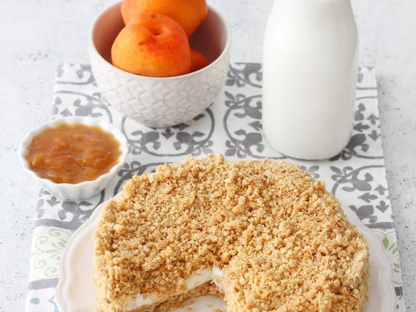 Crostata sbriciolata senza cottura con ricotta e confettura