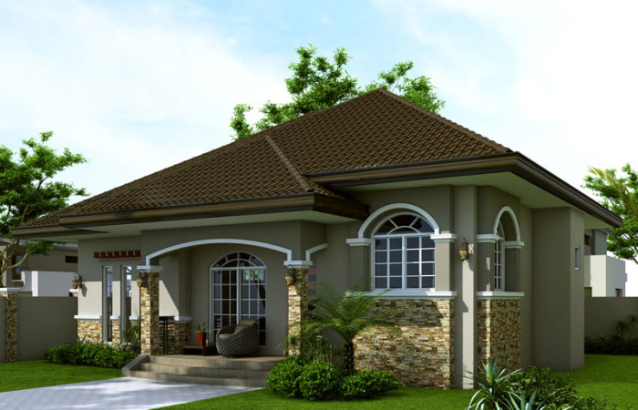 40 small house images designs with free floor plans lay for Single storey house plans uk