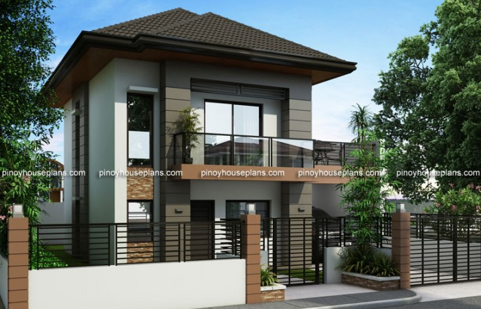 PHP 2014012 LEFT VIEW1 700x450 - Get Modern 3 Bedroom House Plans Philippines PNG