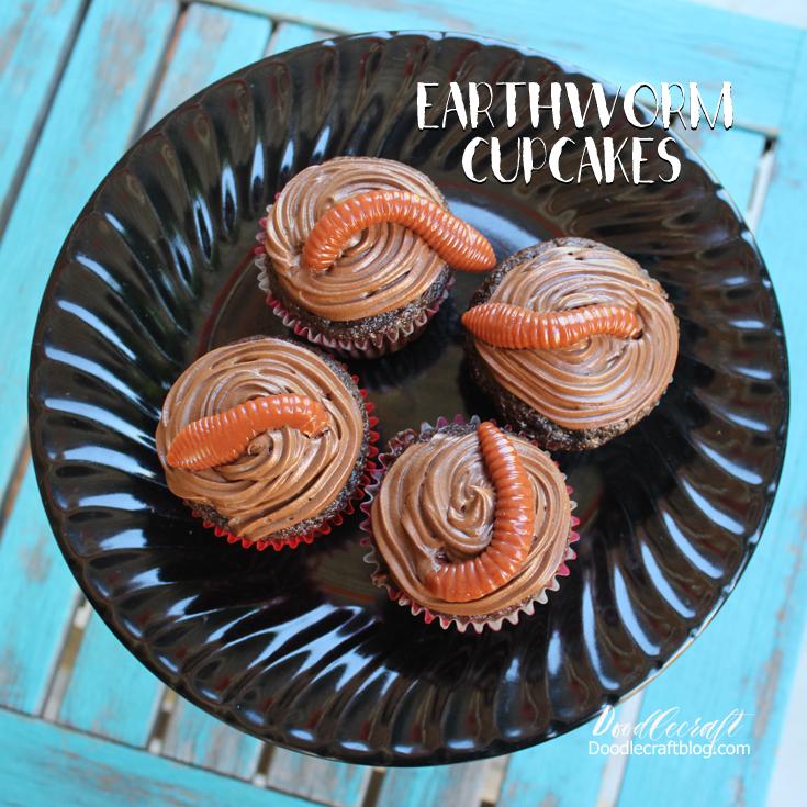 http://www.doodlecraftblog.com/2016/10/earthworm-cupcakes-harry-potter-week.html