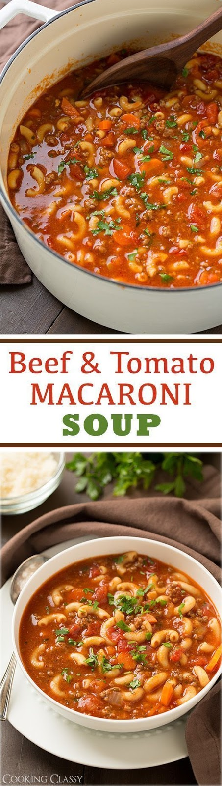 Beef and Tomato Macaroni Soup Recipes