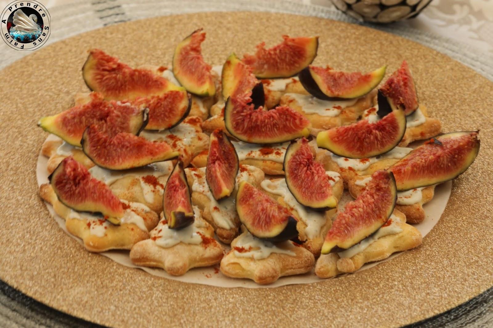 Mini pizzas crème de Saint Agur