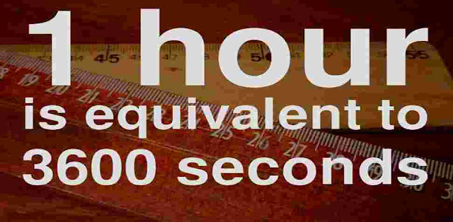How many seconds are there in an hour?