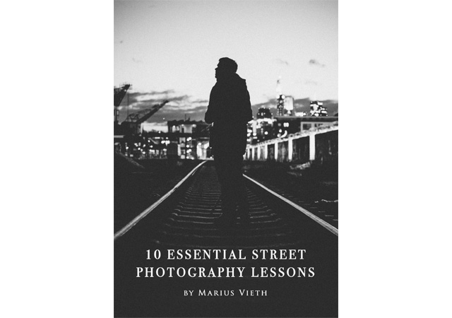 Copertina del manuale di street photography di Marius Vieth