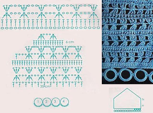 top sujetador crochet, gráfico patrones para crochet, mujer