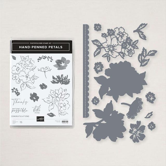 Craftyduckydoodah, Hand-Penned Petals, Stampin' Up, Stamping INKspirations Blog Hop,