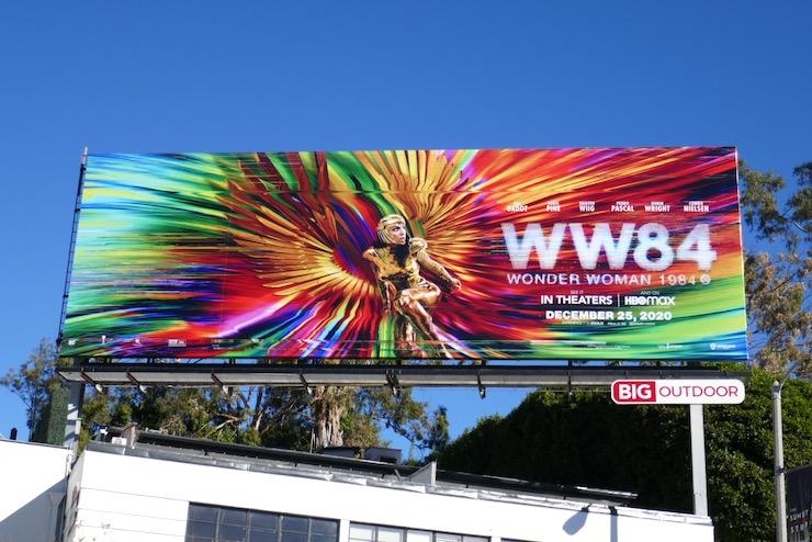 Wonder Woman 1984 film billboard