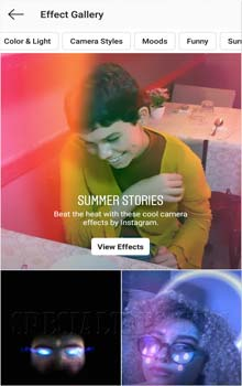 Fitur 'Effect Gallery' Face Filter Instagram