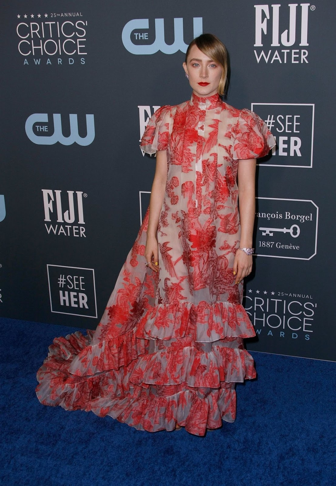 Saoirse Ronan makes a floral statement in Erdem at the 2020 Critics' Choice Awards