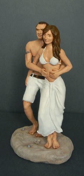 statuine personalizzate matrimonio fidanzati innamorati volti somiglianti orme magiche