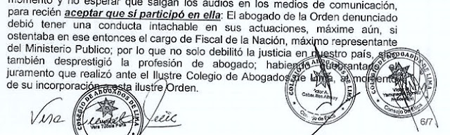 Pedro Chávarry: Consejo de Ética del CAL decide suspender su colegiatura
