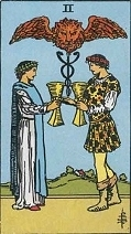 The Two of Cups - RWS