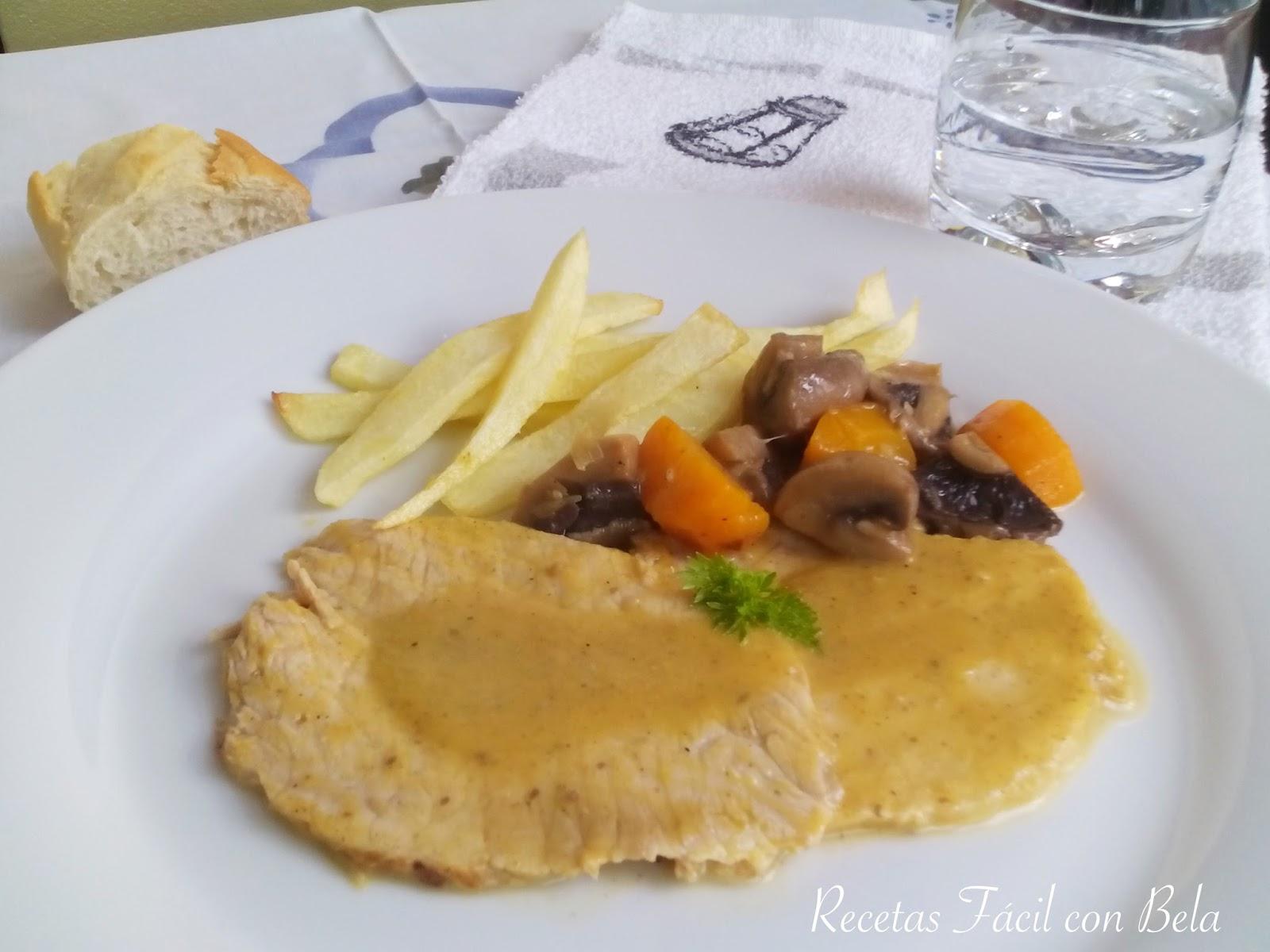 Recetas f cil con bela cinta de lomo de cerdo asado con salsa for Cocinar cinta de lomo al horno