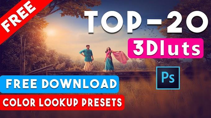 Free Download Top 20 Premium 3Dluts Color Lookup Presets