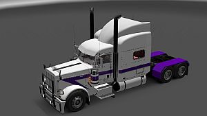 White & Purple skin for Peterbilt 389