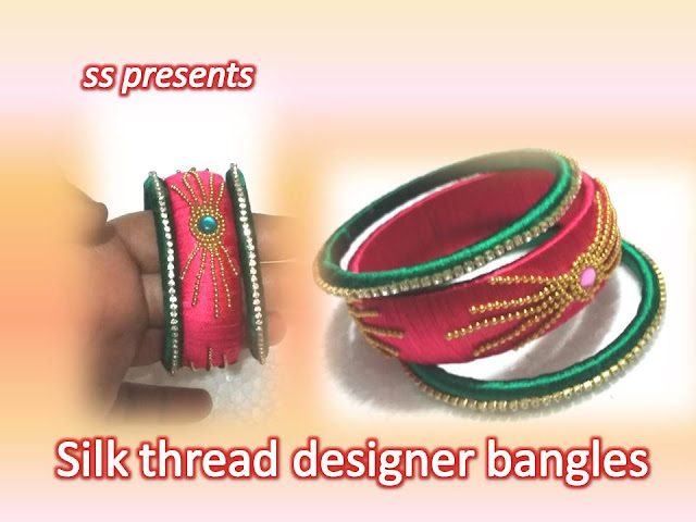 Here is silk thread jewellery making,pearls jewellery,beads jewellery,paper jewellery,fabric jewellery,quilling jewellery,silkthread jewellery making at home,How to make silk thread designer bangle set