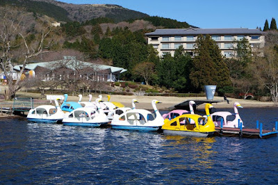 Swan Boats at Lake Ashinoko Hakone Japan
