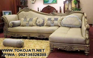 SOFA TAMU CLASSIC EROPA MODEL L-FURNITURE INTERIOR KLASIK97