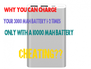why we do not get 100% output from a power bank? Why we can charge our 3000 mAh battery 1-2 times with a 10000 mAh powerbank