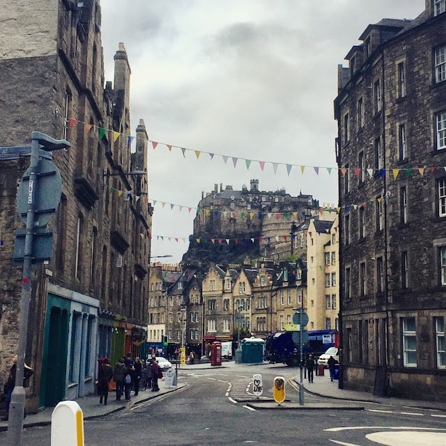 Edinburgh Castle and Grassmarket, Edinburgh, Scotland