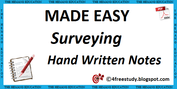 Made Easy Surveying Hand Written Class Notes Civil | The