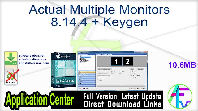 Actual Multiple Monitors 8.14.4 + Keygen