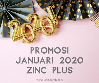 Promosi Januari 2020 Zinc Plus Shaklee Beli 1 Botol Free 1