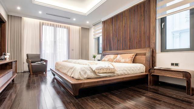 Sàn gỗ hương xám cho phòng ngủ