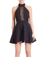Prom Dress the Night Kendall + Kylie High-Neck Fit & Flare Dress